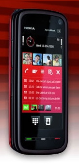 Nokia 5800 XpressMusic in Red